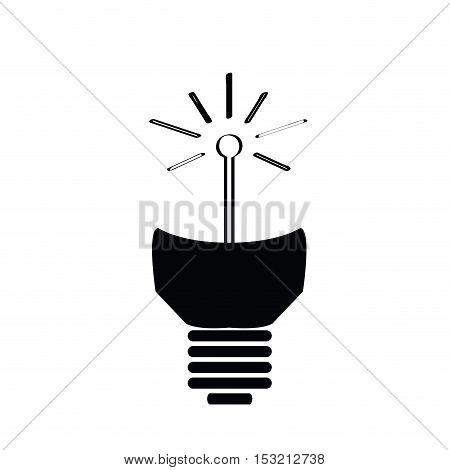 Isolated Conceptual Lightbulb
