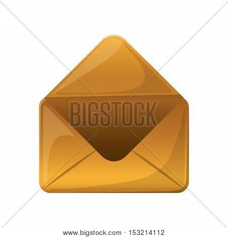 opened envelope mail icon over white background. vector illustration