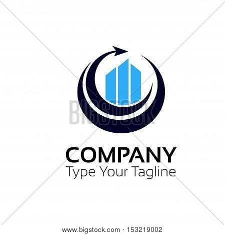 Financial rise sign company logo vector design