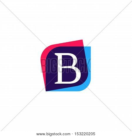 B letter book sign company logo vector design