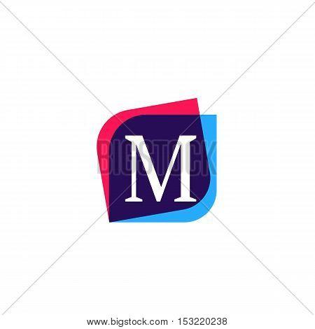 M letter logo company sign vector design