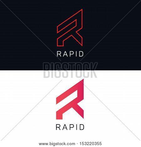 R letter logo company sign vector design
