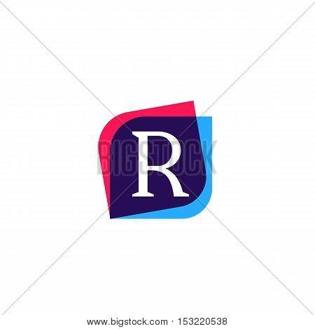 R letter sign company symbol vector design