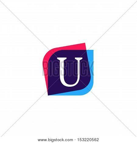 U letter sign company symbol vector design