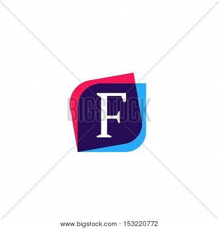 F letter sign company symbol vector design