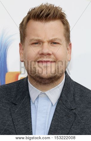 James Corden at the Los Angeles premiere of 'Trolls' held at the Regency Village Theatre in Westwood, USA on October 23, 2016.