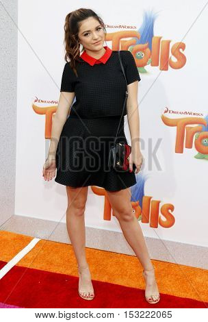 Luna Blaise at the Los Angeles premiere of 'Trolls' held at the Regency Village Theatre in Westwood, USA on October 23, 2016.