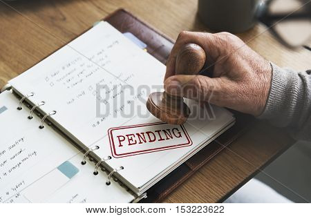 Caution Denied Pending Rejected Secret Warning Concept