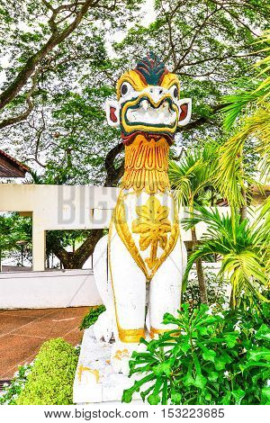 Thai Lion architecture from with nuture background