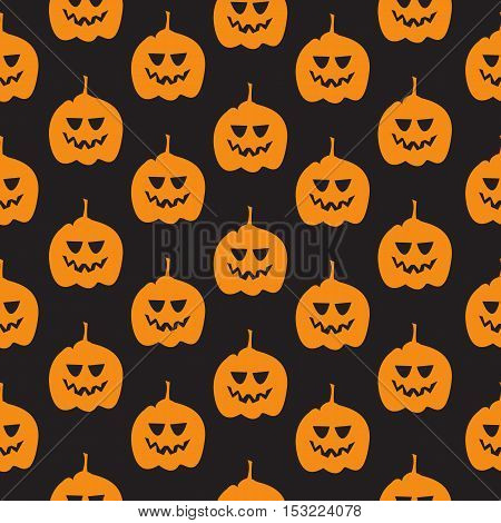 Seamless Pattern With Pumpkin Background