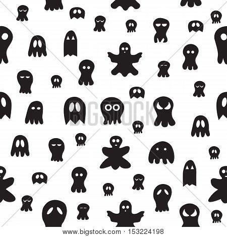 Seamless Ghost Pattern.