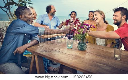 Group Of People Celebrating Concept
