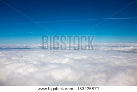 clouds view from the airplane