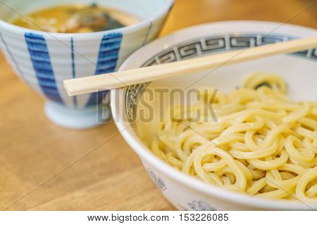 Japanese ramen noodle on table