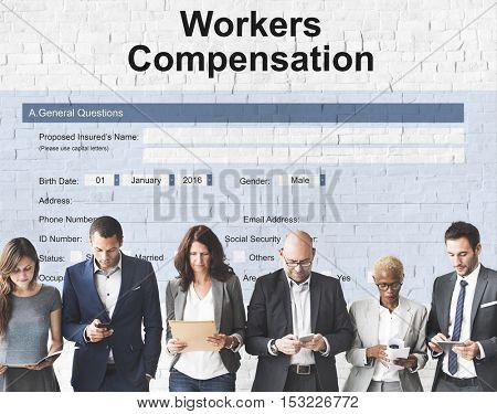 Work Injury Compensation Form Concept