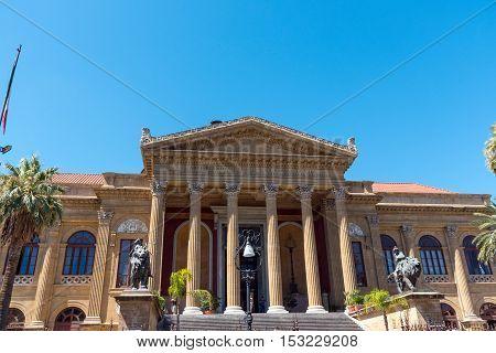 The beautiful Teatro Massimo in Palermo, Sicily