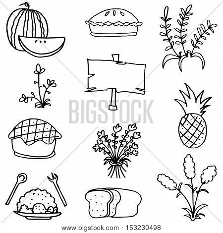 Doodle of thanksgiving collection stock vector art