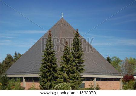 Modern Catholic Church In Landstuhl, Germany