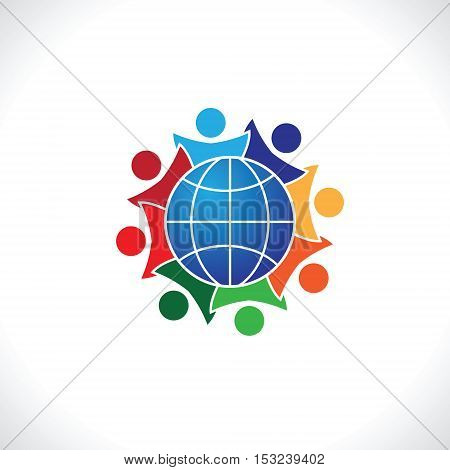8 people icon. people friends logo concept vector icon. this icon also represents friendship, partnership cooperation unity,