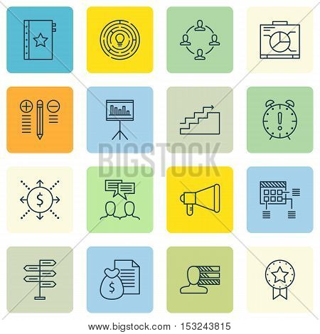 Set Of Project Management Icons On Report, Money And Warranty Topics. Editable Vector Illustration.