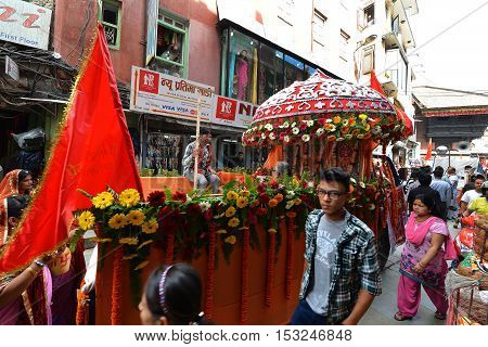 Nepali People Celebrating The Dashain Festival