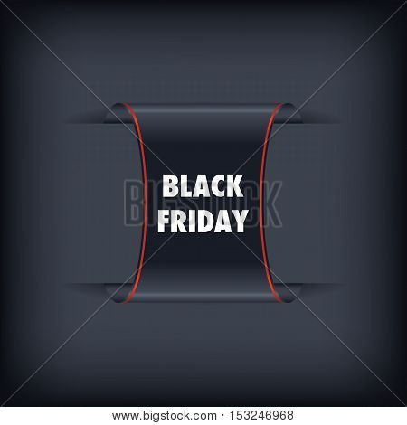 Black Friday sales banner. Black Friday sale black tag vector. Black friday design illustration.