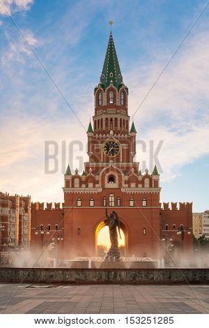 Blagoveshchenskaya Tower. Yoshkar - Ola city, Russia
