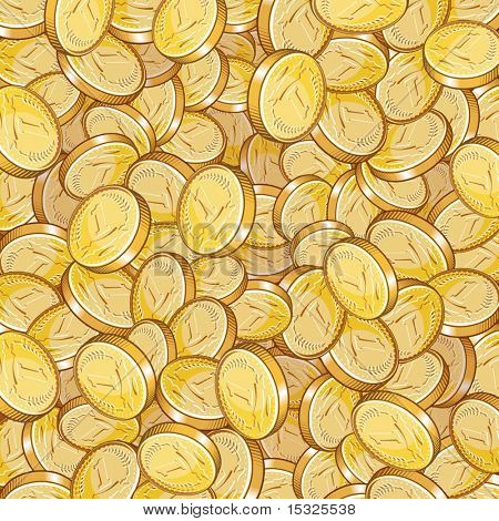 Vector golden treasure background .(illustration without gradients )