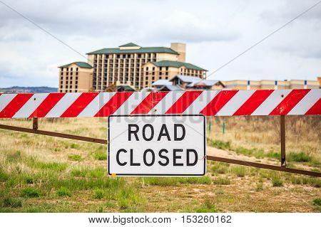 Road Closed Sign, Usa