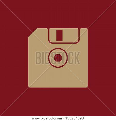 The floppy disk icon. Diskette symbol. Flat Vector illustration