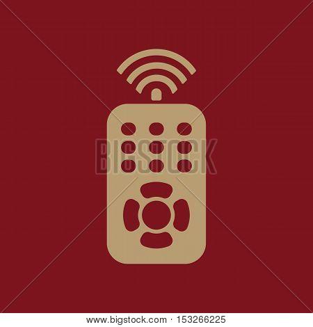 The remote control icon. Remote Control symbol. Flat Vector illustration