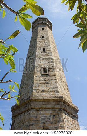 Lighthouse Ke Ga on an island Vietnam