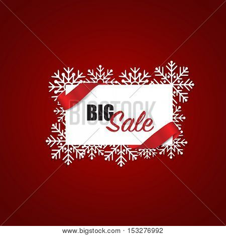 End of year sale, Christmas sale design template. Sale Coupon, voucher, tag. Vector illustration