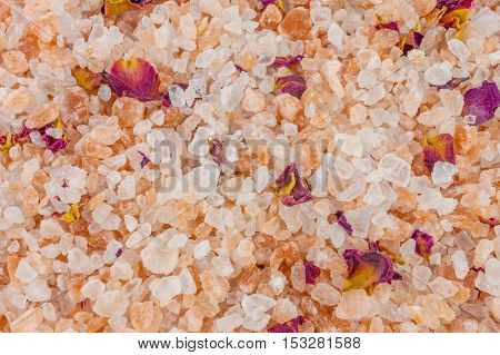 Bath salt and minerals background, for use website