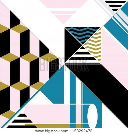 Vector abstract avant geometric retro art background