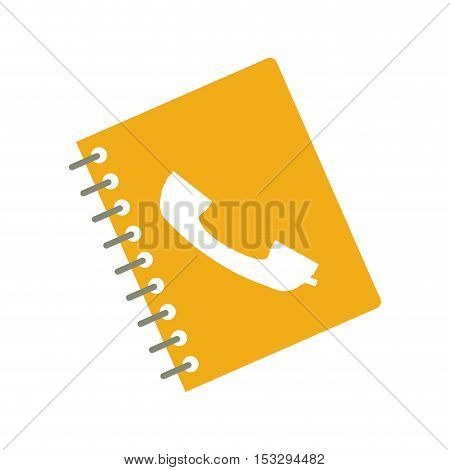 directory notebook with telephone icon on cover. isolated design. vector illustration