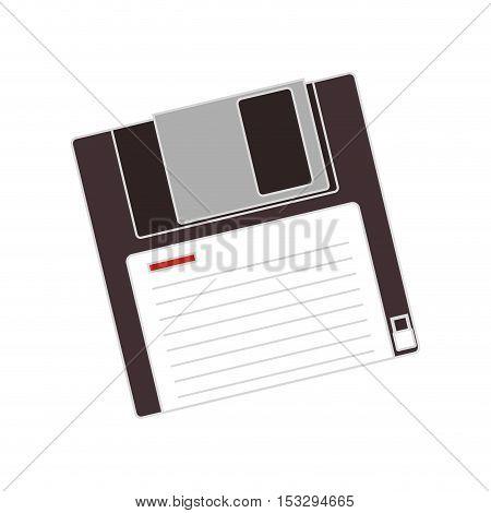 data diskette device icon over white background. vector illustration