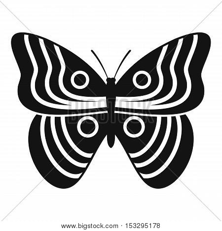 Stripped butterfly icon. Simple illustration of Stripped butterfly vector icon for web