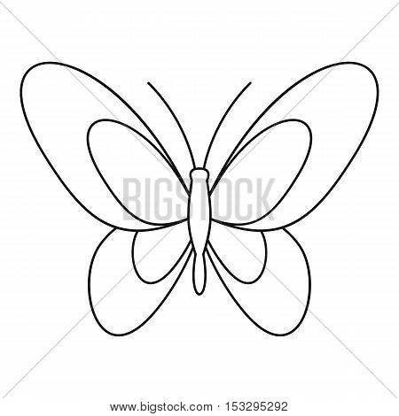 Beautiful butterfly icon. Outline illustration of beautiful butterfly vector icon for web