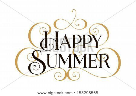 summer, Happy summer, Happy summer card, Happy summer banner, Happy summer text, Happy summer vector, summer card, summer cards, summer invitation, summer banner, text summer, summer art, summer gold