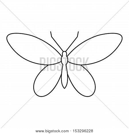 Moth icon. Outline illustration of moth vector icon for web