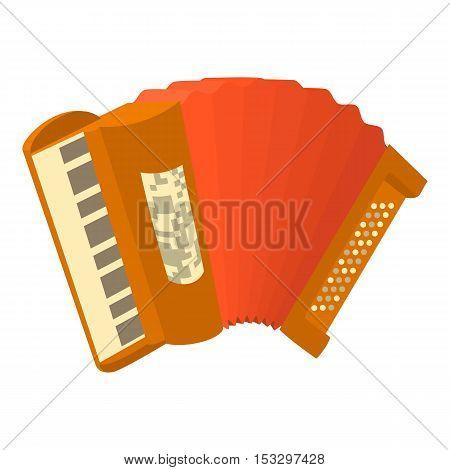 Accordion icon. Cartoon illustration of accordion vector icon for web