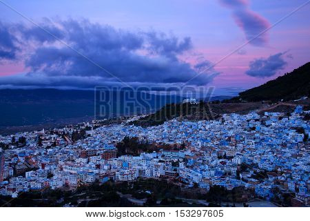 Medina of Chefchaouen in Morocco, North Africa.