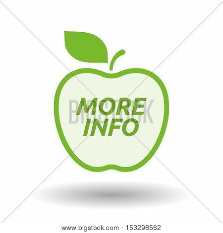 Isolated Line Art Fresh Apple Fruit Icon With    The Text More Info