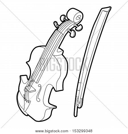 Contrabass icon. Outline isometric illustration of contrabass vector icon for web