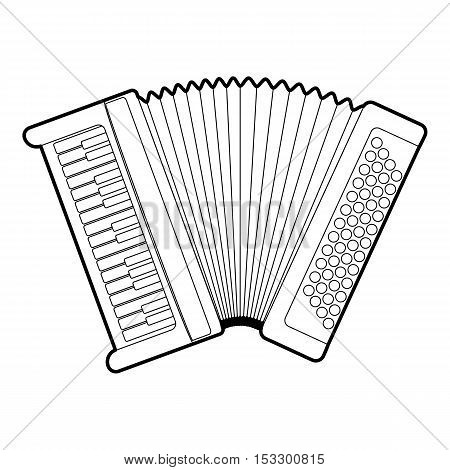 Accordion icon. Outline illustration of accordion vector icon for web