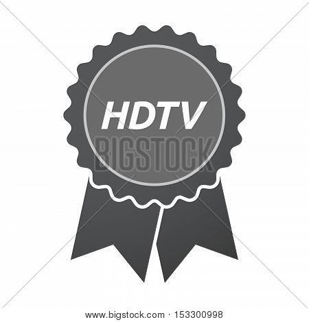Isolated Badge Icon With    The Text Hdtv