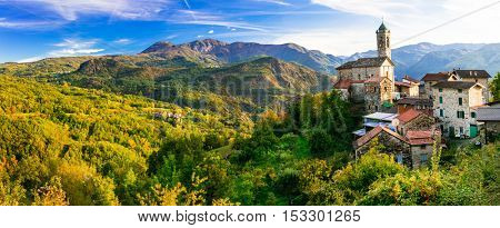 Pictorial small village in mountains - Castelcanafurone, Emilia-Romagna