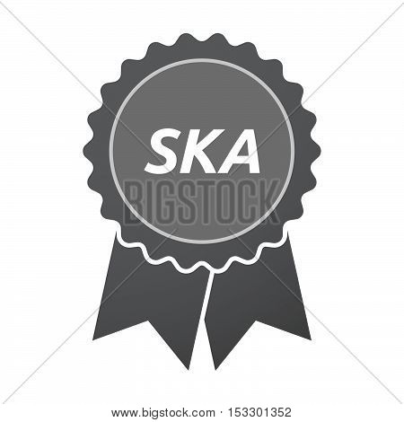 Isolated Badge Icon With    The Text Ska