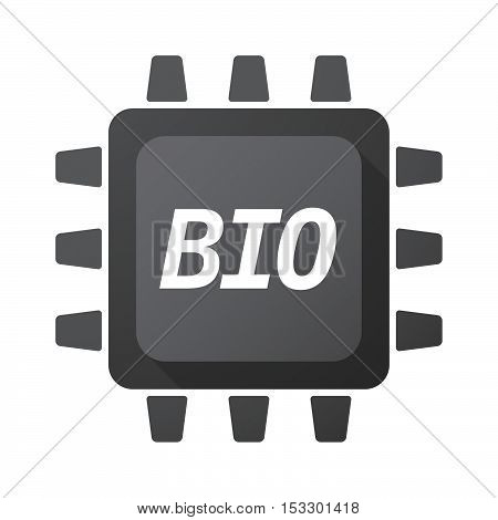 Isolated Central Processing Unit Icon With  The Text  Bio
